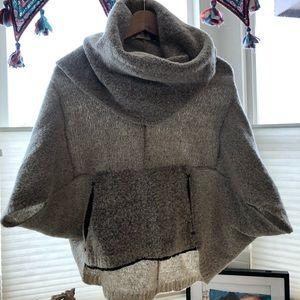 Anthropologie dolman sleeve cowl neck sweater